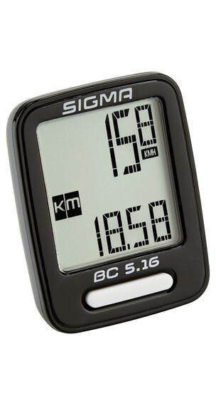 SIGMA SPORT BC 5.16 Cykeldator svart
